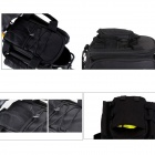 BOI Outdoor Multifunctional Cycling Polyester Bicycle Backseat Bag w/ Rain Cover - Black (13L)