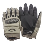 Fashionable Outdoor Cycling / Riding Motorcycle PU Gloves - Sand (L / Pair)