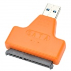 "USB 3.0 Male to SATA Female Adapter + USB 3.0 Male to Female Cable for 2.5"" Hard Disk - Orange"