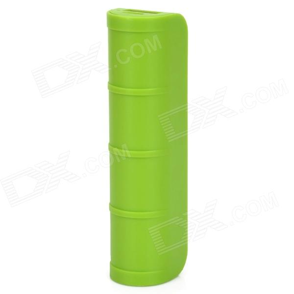 X1 Bamboo Style Universal 2600mAh Li-polymer Battery Mobile Power Bank - Green exerpeutic 1000 magnetic hig capacity recumbent exercise bike for seniors