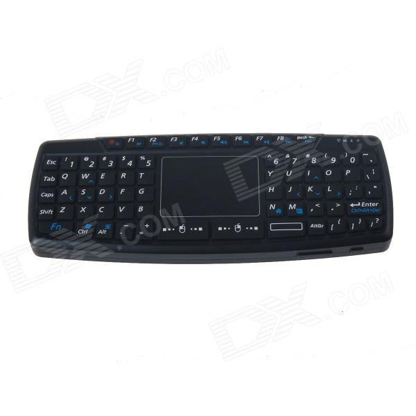 Viboton KB-168 Mini Wireless 69-Key Teclado w / Touch Pad para Apple / HP / Dell + Más - Negro