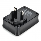 5V 4A 4-USB UK Plug Power Adapter para Telemóveis / Tablets + Mais - Preto (110 ~ 240V)