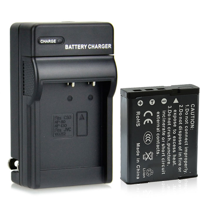 DSTE NP-130 2300mAh Battery + DC104 US Plug Charger for Casio EX-ZR100 ZR200 Camera dste np bx1 battery