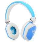 VYKON MQ22 3.5mm Wired Headband Headphone w/ Microphone for IPHONE / IPAD + More - White + Blue