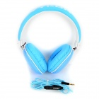 VYKON MQ33 3.5mm Wired Headband Headphone w/ Microphone for IPHONE / IPAD + More - White + Blue