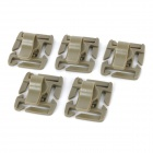 360' Rotary PC Buckle Clip for Water Bag Pipe / Backpack Strap - Tan