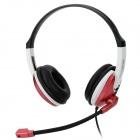 OVLENG Q14 USB 2.0 Wired Headphone for Computer - Black + Red + White
