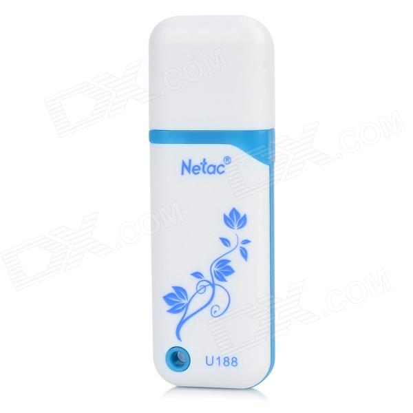 Netac U188 Blue and White Porcelain Pattern USB 2.0 Flash Drive - White + Blue (8GB) original smart intelligent remote control ak59 00172a universal for dvd blu ray player bd f5700 for samsung
