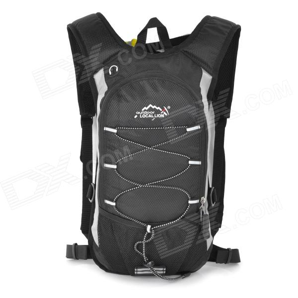 LOCAL LION 479A Multi-functional Outdoor Mountaineering Cycling Double Shoulder Bag Backpack - Black