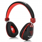 VYKON MQ11 3.5mm Wired Headband Headphone w/ Microphone for IPHONE / IPAD + More - Red + Black