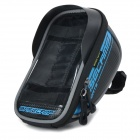 Basecamp BC-305 Mountain Bike Bicycle Frame Top Tube PU Bag - Black + Blue