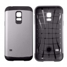 Fashionable Armor Style Protective PC + Silicone Back Case for Samsung Galaxy S5 Mini - Grey + Black