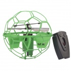NEJE 2-CH 2.4GHz IR Remote Control R/C Flying Ball - Green (3 x AG13)