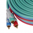 SUOER AV-628 Copper 3-RCA Male to 3-RCA Male Video & Audio Connection Cable - Green + Red (10m)