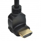 CHEERLINK 90 Degree Angle HDMI 1.4 Male to Female Extension Cable - Black (15cm)