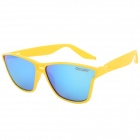 OSSAT Fashion Plastic Frame Resin Lens UV400 Protection Polarized Sunglasses - Yellow