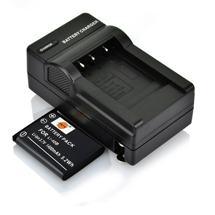 DSTE LI-40B 1400mAh Battery + DC83 US Plug Charger for Olympus FE-230 240 250 280 Camera