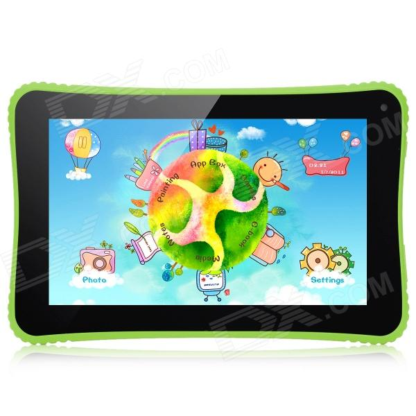 VENSTAR K7 7 Android 4.2.2 Dual-Core Kid's Pad Tablet PC w/ Dual-Camera, 512MB RAM, 8GB ROM - Green zgpax s5 watch smart phone dual core 1 54 inch capacitive touch screen android 4 0 512mb ram 4g rom 2mp camera with gps silver black