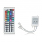 44-Key Infrared IR Remote Controller for RGB LED Light Strip - White + Black