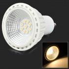 YouOkLight GU10 5W 380lm 3200K 9-SMD 2835 LED Warm White Spotlight - White (AC 100~240V)