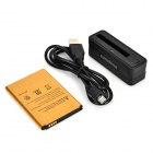 SUNSHINE Mini Battery Charging Dock + 3.8V 3000mAh Li-ion Battery + Cable for LG G3 - Black + Golden