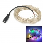 6W 100-SMD 0603 LED RGB Copper Wire Light Strip - Silver + Black (DC 12V / 10M)