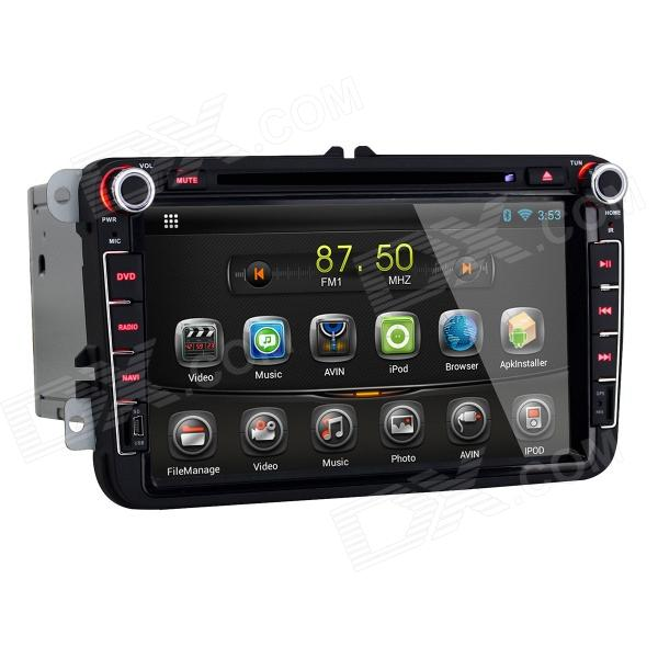 Joyous 8 HD Capacitive Android 4.2 Stereo Car DVD Player w/ GPS Navi for VW Passat, Seat, Skoda joyous 1 6g dual core android 4 2 capacitive screen car dvd w radio gps rds bt wifi 3g