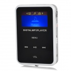"1.1"" TFT Digital reproductor de mp3 w / FM / TF / Mini USB / 3.5mm - Negro + Blanco + Plata"