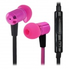 VYKON MK-3 3.5mm In-Ear Earphone w/ Microphone / Voice Control - Purplish Pink