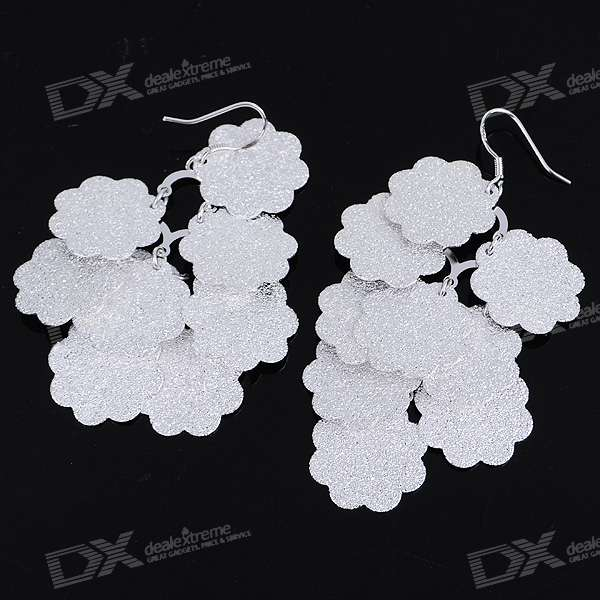 Charming Plum Blossom Silver Plated Earring (Pair)