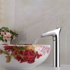YDL-F-0585 Winebowl Style Chrome-plated Brass Cold / Hot Water Faucet  - Silver