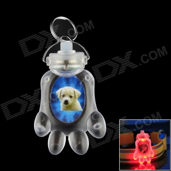 Cute Creative Luminous Footprint Style Pendant for Pet Dog - Transparent