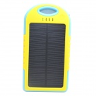 ODEM 5000mAh High-performance Dustproof Shockproof Waterproof Solar Charger External Bank - Yellow