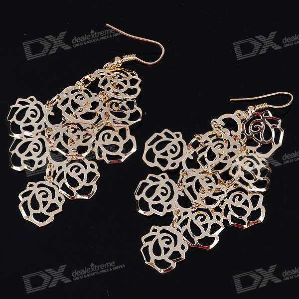 Charming Rose Alloy Náušnice (Pair)