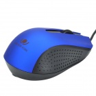 RONGQINGXIANG 800~2000DPI USB 2.0 Wired Optical LED Gaming Mouse - Black + Deep Blue
