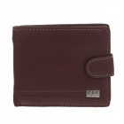 C.S.C AG277YO Stylish Men's Cowskin Leather Buckle Design Purse Wallet - Brown