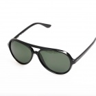 OREKA Retro Style Cellulose Acetate Frame Resin Lens UV400 Protection Sunglasses - Black