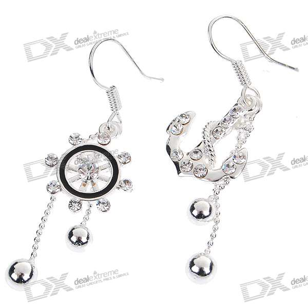 Charming Crystal Silver Plated Earring (Pair) charming plum blossom silver plated earring pair