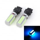 Marsing T25 20W 7000K 4-COB LED Ice Blue Car Brake / Running Lamps (12V / 2 PCS)