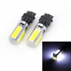 Marsing T25 20W 1500lm 7000K 4-COB LED White Car Brake Light / Running Lamps (12V / 2 PCS)