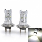 Marsing High Power H7 30W 2300lm 6000K White Light 6-SMD 3030 LED Car Fog / Head Lamp (12V / 2 PCS)