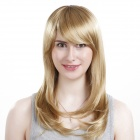 WM106 Cosplay Party Makeup Fashionable Long Curly Synthetic Hair Wig - Golden