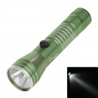 Mini Water-proof Aluminum Alloy Shell White Light LED Energy Saving Flashlight w/ Strap - Green