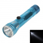 8862 Mini Water-proof Aluminum Alloy Shell White Light LED Energy Saving Flashlight w/ Strap - Blue