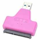 "USB 3.0 Male to SATA Female Adapter + USB 3.0 Male to Female Cable for 2.5"" Hard Disk - Rose Red"