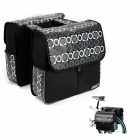 ROSWHEEL 14600 Bike Bicycle Rear Rack Seat Pannier Bag - Black + White