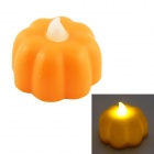 PZCD MY-09 Mini Pumpkin Style Halloween Flame Twinkle LED Yellow Light Candle Lamp - Orange