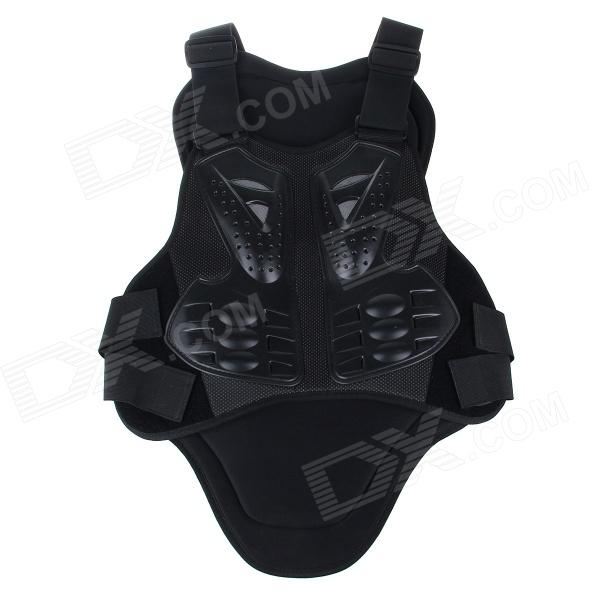 Men's Motorcycle Riding Back / Chest Protective Body Armor - Black