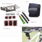 SAHOO 21042b 27-in-1 Practical Portable Bike Bicycle Tire Repair Toolkit - Black + Multi-colored