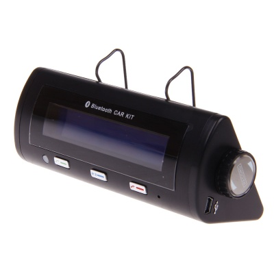 BT8106 Bluetooth Car Kit w/ Caller ID Display, Automatic Connection, Bluetooth Hands-free - Black